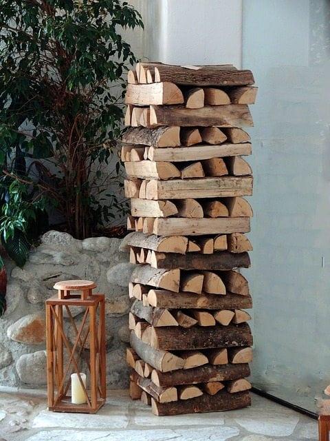 Kaminholz Aufbewahrung Innen Wohnzimmer Firewood Man